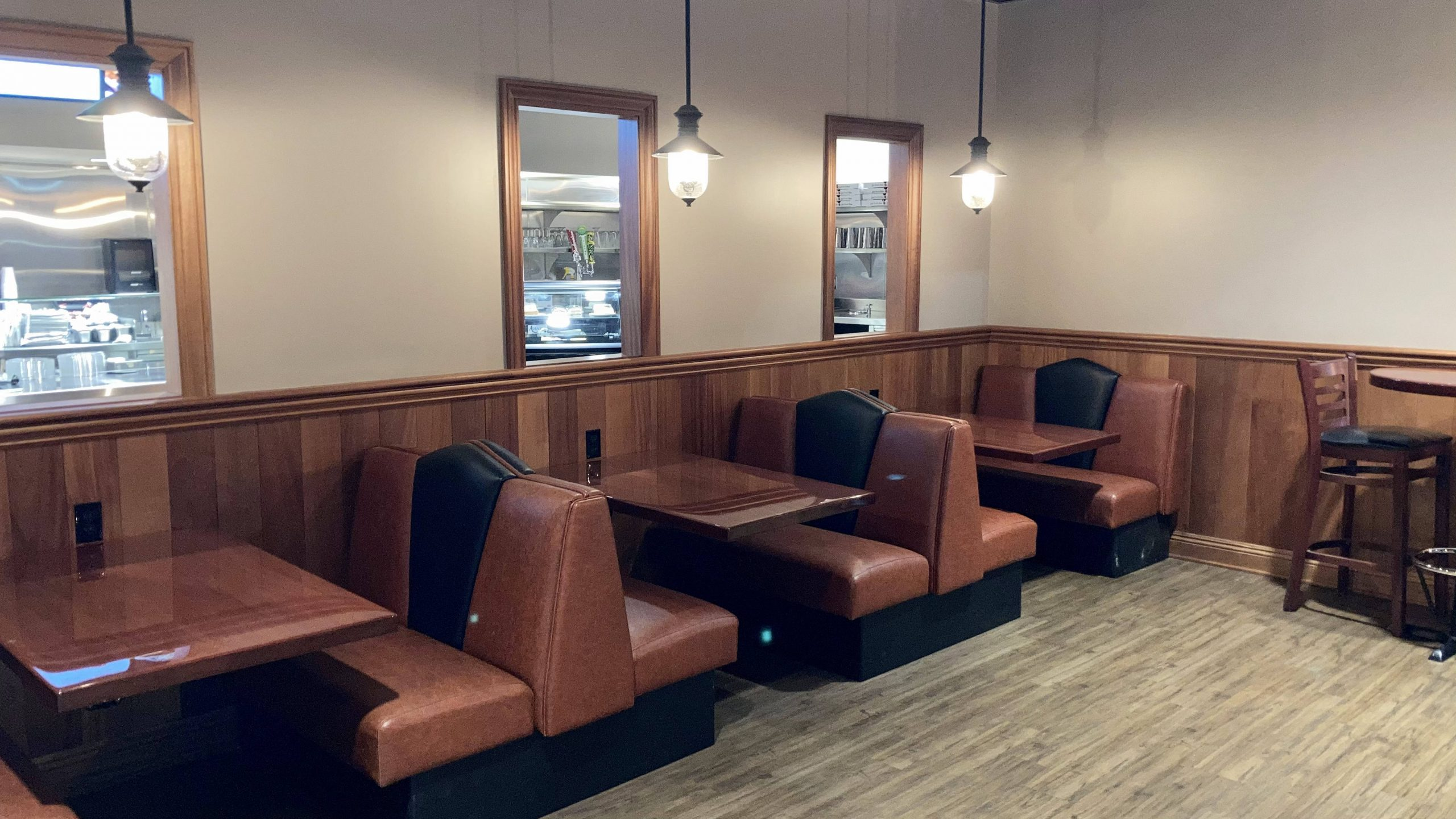 Booths in dining room
